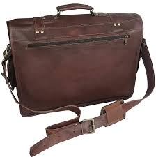 18 inch retro leather laptop messenger bag office briefcase college bag for women