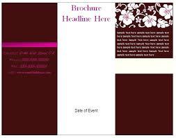 Microsoft Word Pamphlet Microsoft Word Brochure Template Margines Info
