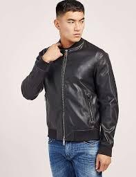 men armani jeans faux leather er jacket black m13b2764ak36 larger image
