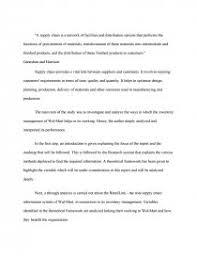 walmart supply chain management essays zoom