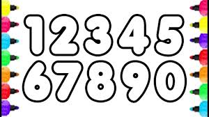 Small Picture 123 Numbers Coloring Pages How To Draw Numbers 0 To 9 And Coloring