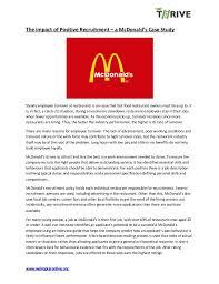 How To Get A Restaurant Job Mc Donalds Recruitment Case Study