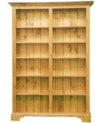 ... Double Bookcase With Wooden Natural Six Shelves With French Double  Shelving Elegant Simple Design Ideas That ...