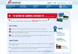 carnival cruise lines launches offering chance to win a caribbean cruise for two carnival cruise lines