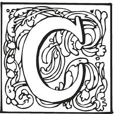 Small Picture Letter C with Ornament coloring page Free Printable Coloring Pages