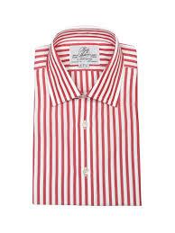 Hudson Designer Shirts Red Butcher Stripe Shirt Design Your Shirt Harvie