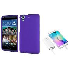 htc charger walmart. insten hard rubber cover case for htc desire 626 - purple (with 5200mah universal usb htc charger walmart x