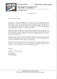Sample Reference Letter For School Superintendent