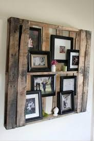 DIY Wooden Photo Wall Display