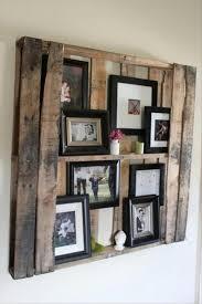 diy wooden photo wall display