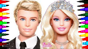 Barbie And Ken Best Learning Coloring Book L Pages For Children