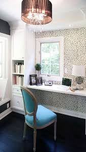 wallpapered office home design. Animal-printed Wallpaper Accentuates A Small Home Office Nook Wallpapered Design