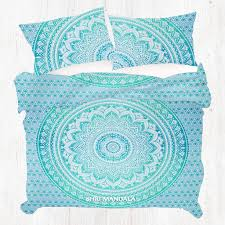 Buy King Size Light Green Ombre Hippie Mandala Quilt Cover Set at ... & Green Ombre Hippie Mandala Quilt Cover Set Adamdwight.com