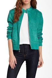 image of kenneth cole new york perforated faux suede er jacket