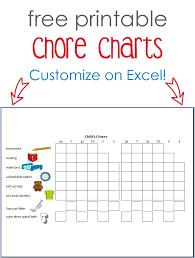 Printable Chore Charts Cutesy Crafts