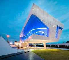 glass facade design office building. perfect glass nakornchaisri honda showroom by office at displays cars within an elevated glass  faade and glass facade design office building