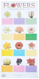 Month Flowers Chart Flower Chart In Tube Abingdon Press 9780687043460 Amazon