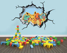 Exceptional Pokemon Inspired Wall Art Sticker Decal 3D Style Smash Art Bedroom Wall