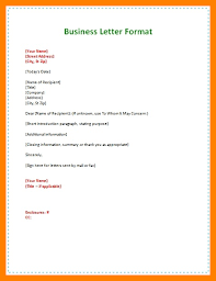 Basic Business Letters 5 Format For Business Letters Examples 952 Limos