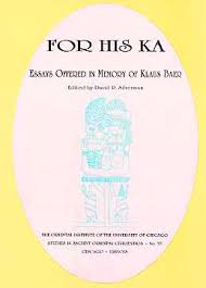 saoc for his ka essays offered in memory of klaus baer the  book cover