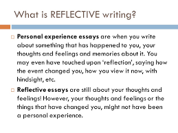 personal reflective writing ppt what is reflective writing