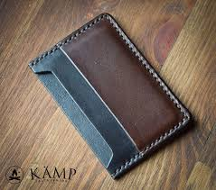 hand made leather credit card holder