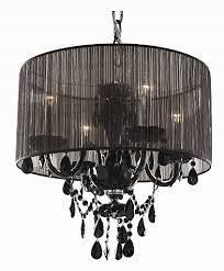 we got lites bohemian crystal chandelier with sheer black shade