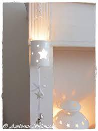 Hänge Windlicht Stern Teelichthalter Metall Dose Weiß Fensterdeko