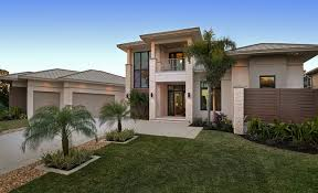 Sater Design Collection's Moderno House Plan Contemporary New Miami Home Design Exterior