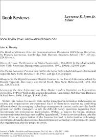 Book Review Essay Information Technology Nicolay 1999