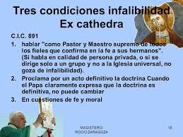 Resultado de imagen para infalibilidad papal