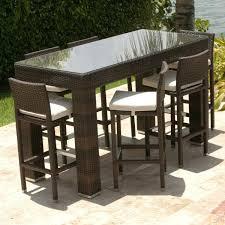 bar height patio dining set bar height patio table set bar height outdoor dining table set