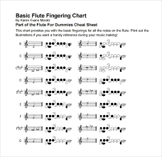 Piccolo Flute Finger Chart Sample Flute Fingering Chart 14 Free Documents In Pdf