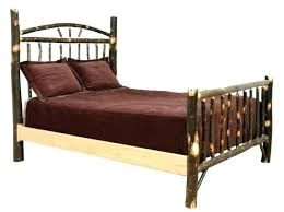 Winsome Log Queen Bed Frame For Sale Size Plans Pine 9 Best Beds ...