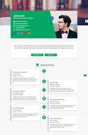 Free Resume Sites 100 Best Html Resume Templates For Awesome Personal Sites Free Html 48
