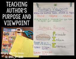 Teaching Authors Purpose Viewpoint All About 3rd Grade