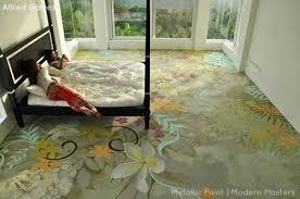 painted floor mural metallic paints by modern masters artist alfred galvez cafe blog painted floor designs l17 designs