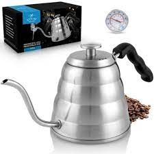 Though any kettle can boil water, there are some distinctions to be aware of if you're primarily a coffee or tea drinker. Zulay Kitchen Pour Over Coffee Kettle With Built In Thermometer Target