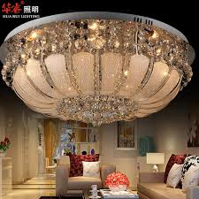 unique chandelier ceiling lamp round crystal chandeliers diameter 80cm surface mount ceiling lamp