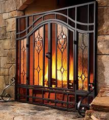 2 door fl fireplace screen w beveled glass panels in for beautiful glass fireplace screens with doors