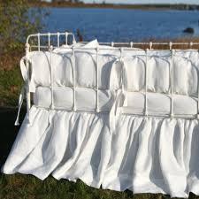 lulla smith athenia irish linen crib bedding