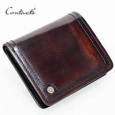 whole contact s small leather wallet men handmade burnished italy leather purse photo holder holders purse brand designual