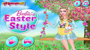 barbie easter style barbie games makeup games for s