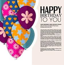 Greeting Card Format Greeting Card Examples Vector Free