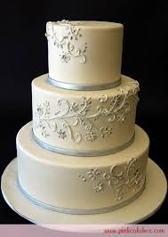 silver white wedding cake wedding cakes