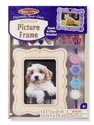 melissa doug decorate your own wooden picture frame