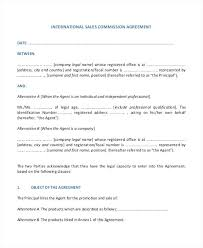 Basic Contract Outline Commission Contract Templates Only Template Agreement