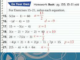5 hw check check homework homework book pg 155 15 21 odd
