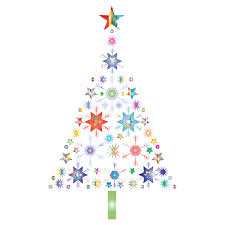 Seamless pattern white christmas tree from circles. Abstract Snowflake Christmas Tree By Karen Arnold Prismatic No Background Free Svg