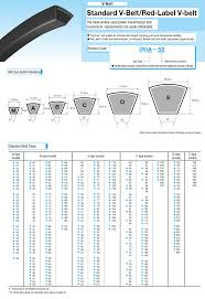 Mitsuboshi Belt Size Chart 57 Rare Tabel V Belt
